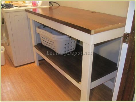 laundry room table with storage laundry room folding table with storage at home design ideas
