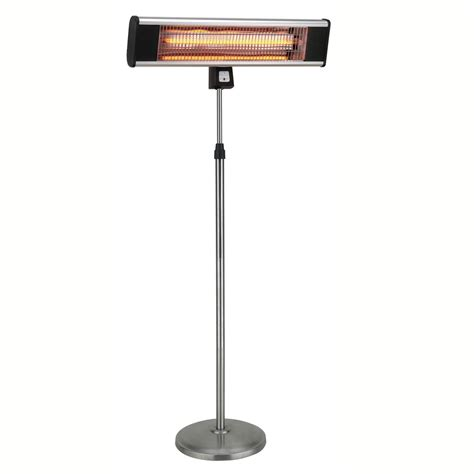 infared patio heaters 1500w infrared pedestal style electric patio heater
