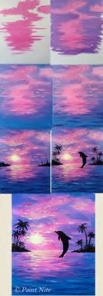 acrylic painting how to step by step best 25 watercolor sunset ideas on drawing