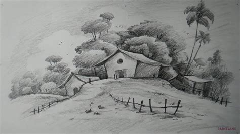 landscapes to draw how to draw easy and simple landscape for beginners with