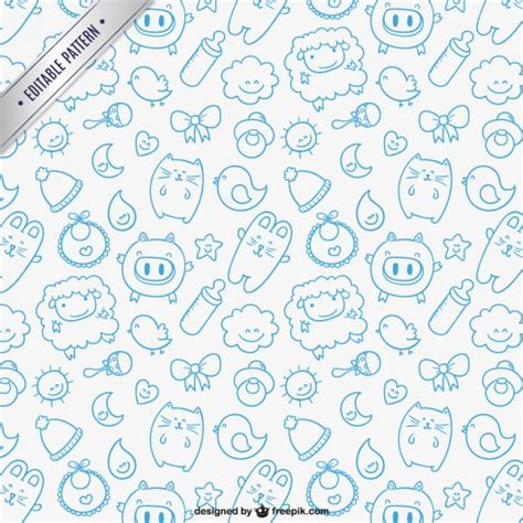 baby patterns free sketchy baby pattern vector free