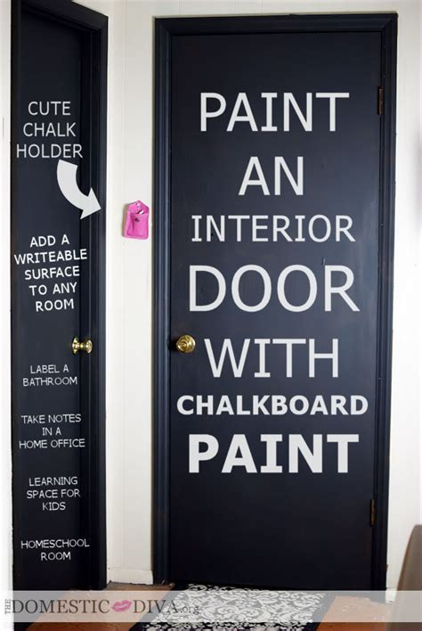 chalk paint interior door diy paint an interior door with chalkboard paint for a