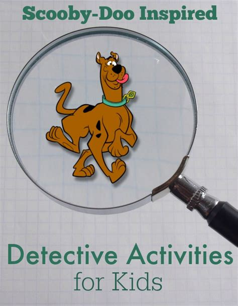 detective crafts for scooby doo inspired detective activities for
