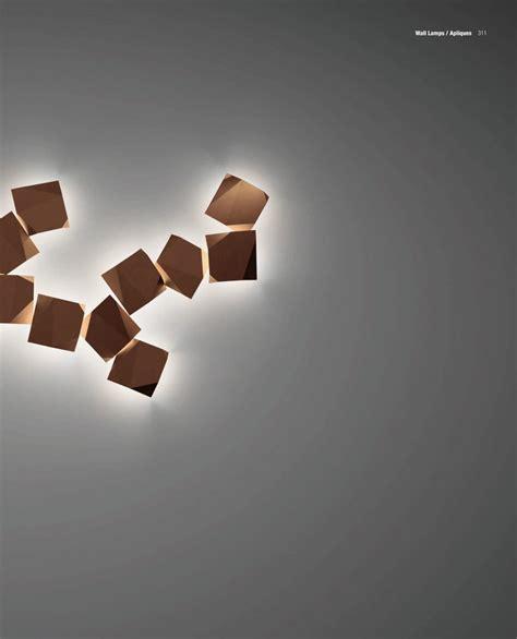 vibia origami vibia origami aplique cuadruple lacado oxido 4508 54