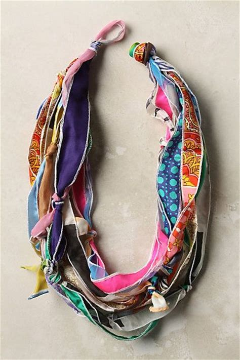 how to make scarf jewelry diy anthropologie inspired scarf necklace