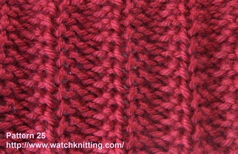 knitting design 187 stitch 25 rib stitch