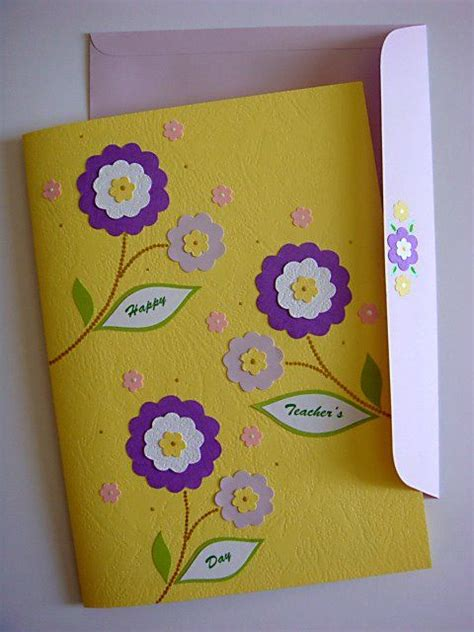 how to make handmade greeting cards for teachers day handmade greetings card s day pop up flowers