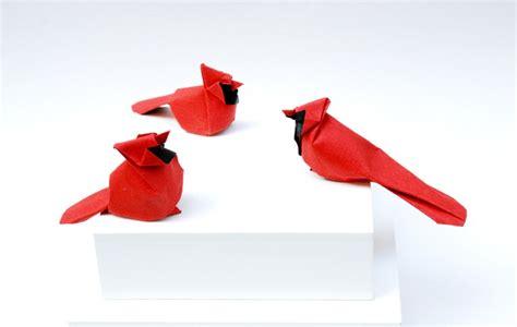 origami cardinal northern cardinal origami by giang dinh giang dinh