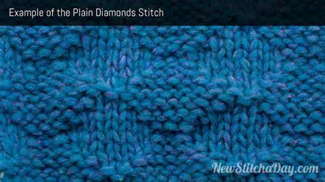plain knitting stitch the plain diamonds stitch knitting stitch 176 new