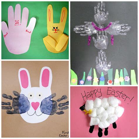 easter craft ideas for easter handprint and fingerprint crafts for crafty