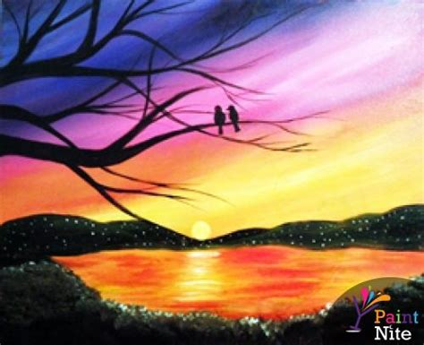 paint nite birds at kudzu s paint nite events