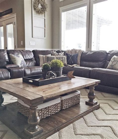 decorating a living room with brown leather furniture 25 best ideas about brown decor on