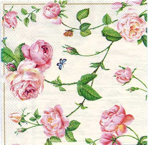 decoupage roses decoupage paper of rambling pink roses napkin