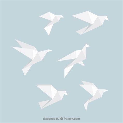 origami bird white origami birds vector free