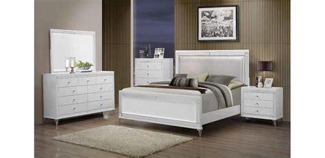 bedroom sets white metallic white bedroom set 5pc global furniture