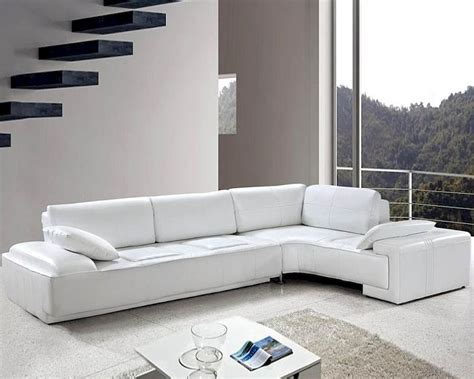 white sectional sofa leather white leather modern design sectional sofa set 44l0738