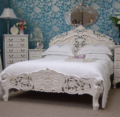 white rococo bedroom furniture white rococo kingsize bed free delivery coco54