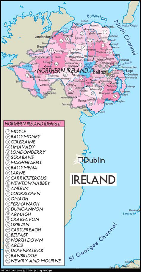 northern ireland northern ireland map regional map of ireland city
