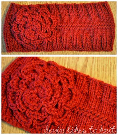 knitting pattern ear warmer headband demi knits a simple headband ear warmer knit pattern
