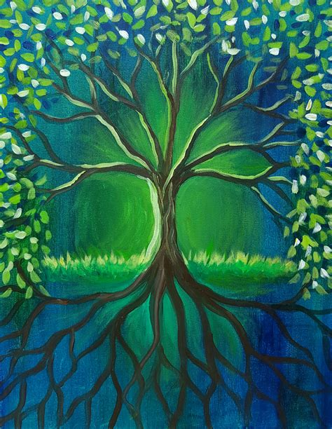 paint nite tree celtic tree at quail golf and country club paint
