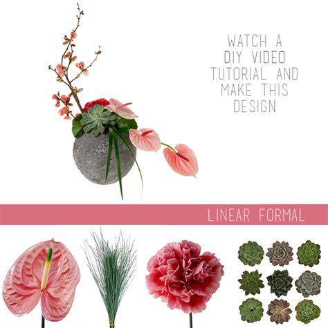 how to arrange flowers how to arrange flowers linear formal fiftyflowers the