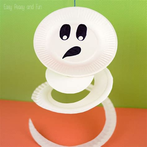 paper plate ghost craft paper plate ghost paper plate crafts for easy