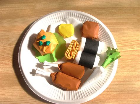food crafts origami food craft ideas preschool education for