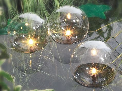 solar pond lights uk 3 set of glass globe floating pond lights