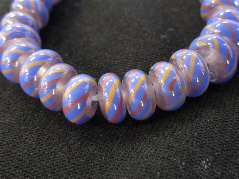bead world lwork glass transparent with blue