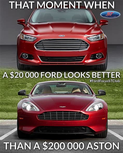 Ford Focus Aston Martin that s right ford power ford mondeo vs aston martin