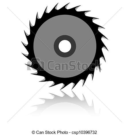 Chainsaw Artwork by Vectors Of Circular Saw Blade On A White Background