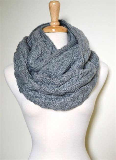 cable knit infinity scarf pattern chunky knitted loop infinity circle scarf cable pattern