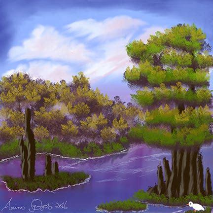 bob ross painting gimp cypress sw painting by anino ogunjobi using gimp gimp