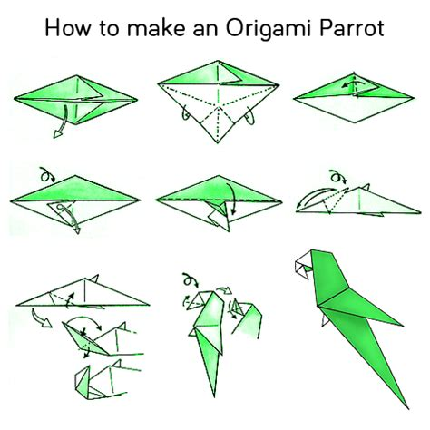 how to make origami flapping bird step by step origami fish base