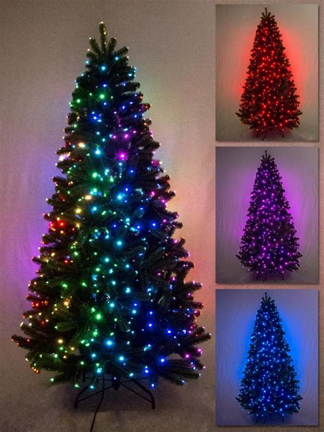 fibre optic outdoor trees multi colour function light fibre optic tree 1