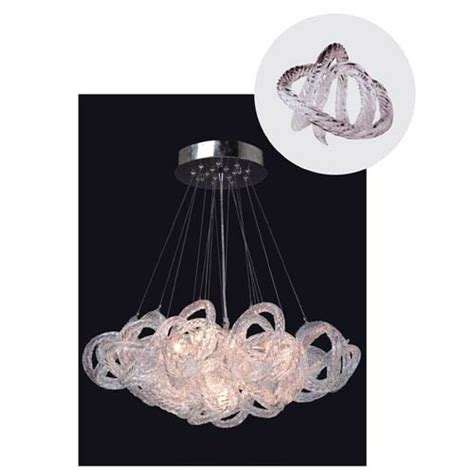 viz glass chandelier viz glass infinity chandelier with clear glass in