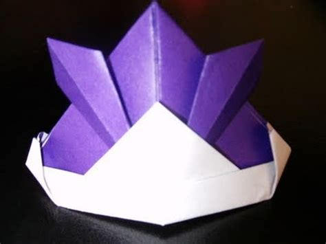how to make an origami samurai helmet origami samurai helmet