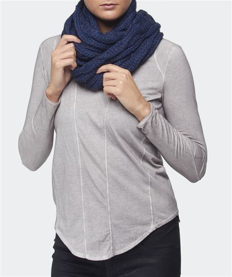loop knit scarf gebeana knitted loop scarf available at jules b
