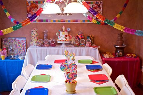 candyland decorations ideas the centerpieces and table of treats in candyland