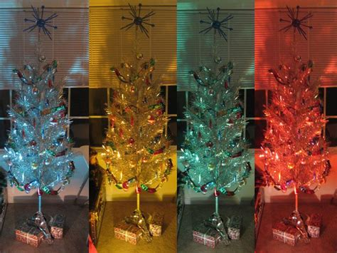 new aluminum tree aluminum tree with color wheel light of all the