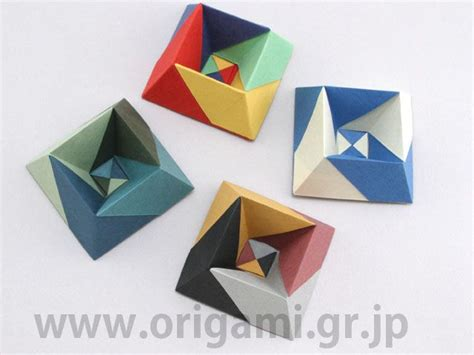 origami paper toys albers box by jun maekawa tanteidan magazine 147