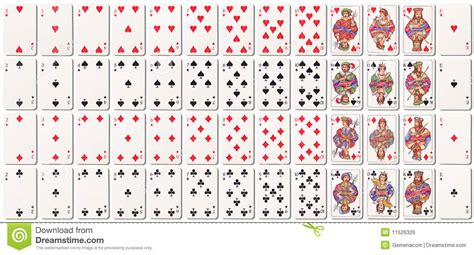 how to make deck of cards deck of cards with shadows stock illustration image