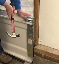 overhead door installation manual how to install a garage door