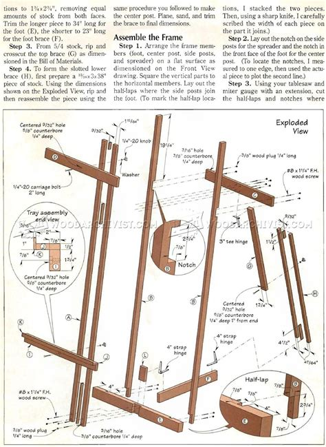 easel woodworking plans diy easel woodarchivist