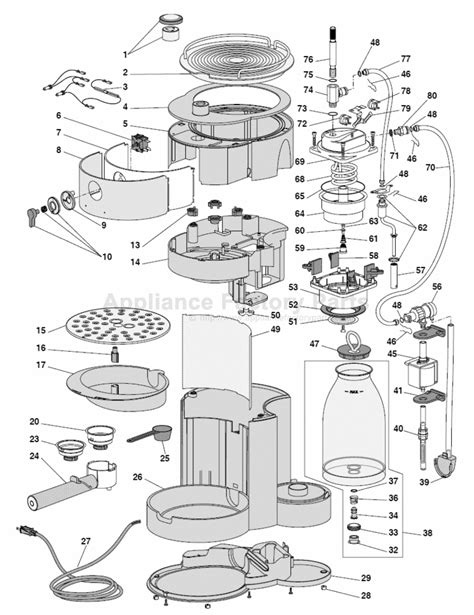 Wiring Diagram Also Bunn Coffee Maker Parts On Mr. Coffee Parts Diagram ~ Elsavadorla