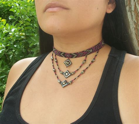 bead choker necklace beaded choker beaded necklace american beadwork