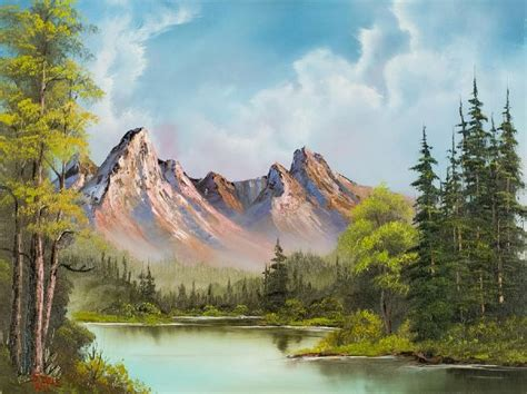 bob ross paintings buy 25 best ideas about mountain paintings on