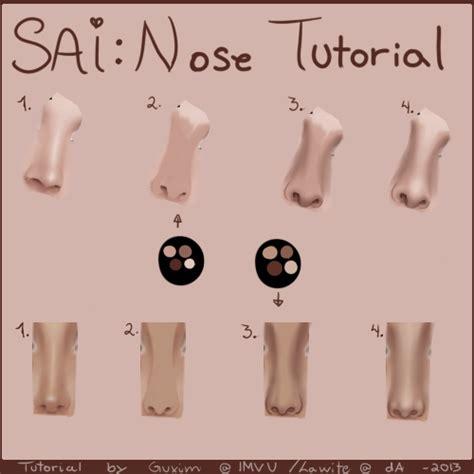 paint tool sai imvu tutorial imvu nose tutorial by lawite on deviantart