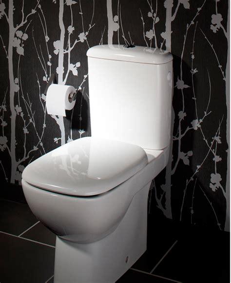 decoration toilettes cuvette wc blanc papier peint noir blanc d 233 coration maison et id 233 es d 233 co