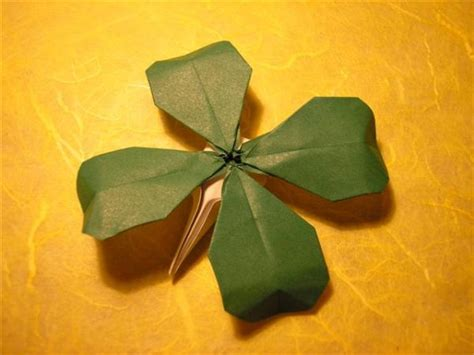 origami four leaf clover origami for everyone